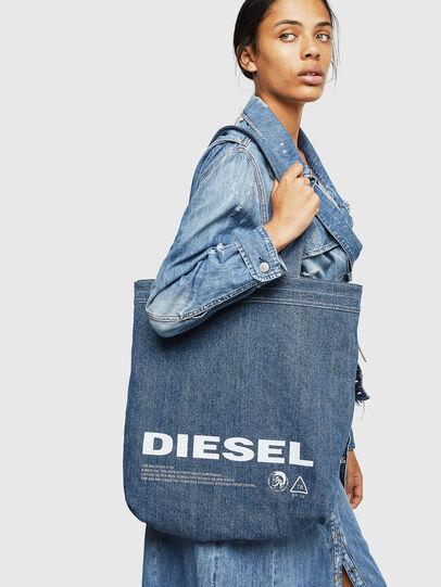Diesel - F-THISBAG SHOPPER NS, Blanc/Bleu - Cabas et Sacs d'Épaule - Image 7