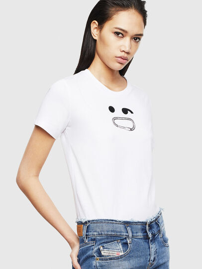 Diesel - T-SILY-S8, Blanc - T-Shirts - Image 4