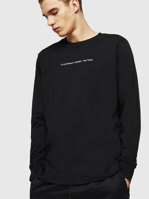 T-JUST-LS-COPY, Noir - T-Shirts
