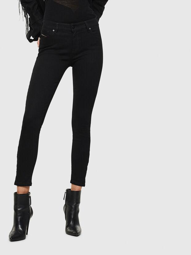 Slandy Zip 069EF, Noir/Gris foncé - Jeans