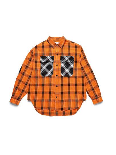 Diesel - D-ANORACHECK, Orange - Chemises - Image 1