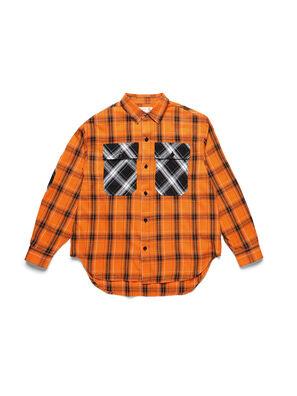 D-ANORACHECK, Orange - Chemises