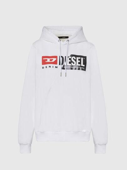 Diesel - F-ANG-HOOD-CUTY, Blanc - Pull Cotton - Image 1