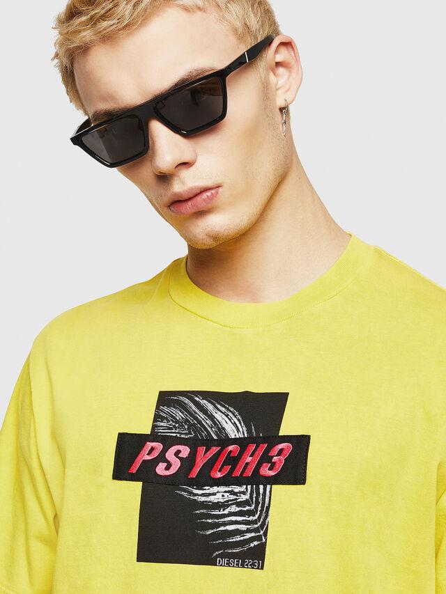 Diesel - T-JUST-Y18, Jaune - T-Shirts - Image 2