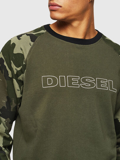 Diesel - UMLT-MAX, Vert Camouflage - Pull Cotton - Image 3
