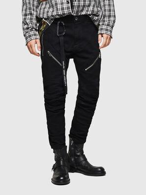 P-VON, Noir - Pantalons
