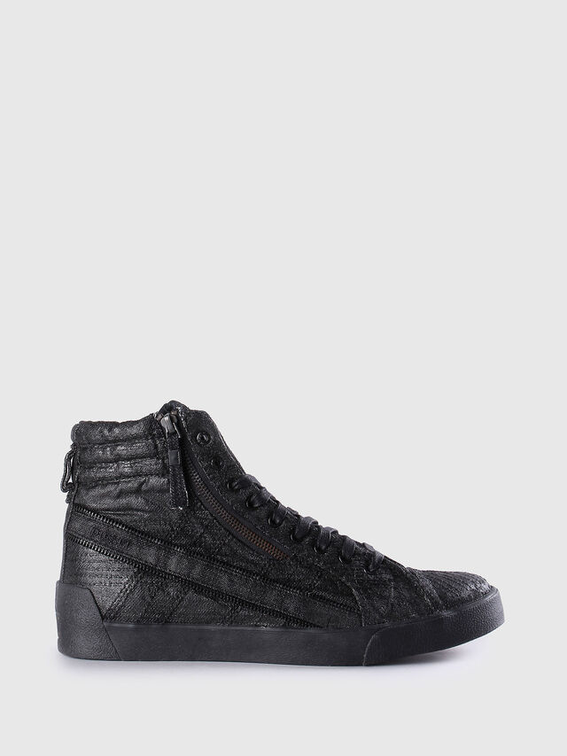 Diesel - D-STRING PLUS, Cuir Noir - Baskets - Image 1
