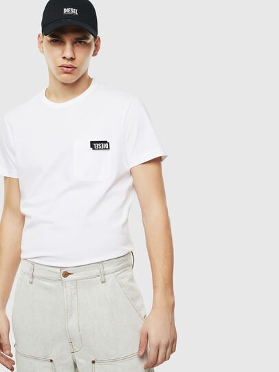 Diesel - T-WORKY-SLITS, Blanc - T-Shirts - Image 5