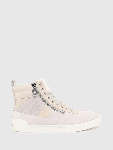 Sneakers montantes en cuir suédé