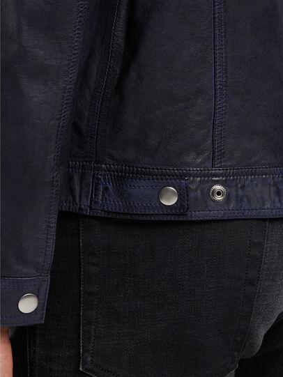 Diesel - L-NHILL-TRE, Bleu Foncé - Vestes de cuir - Image 5