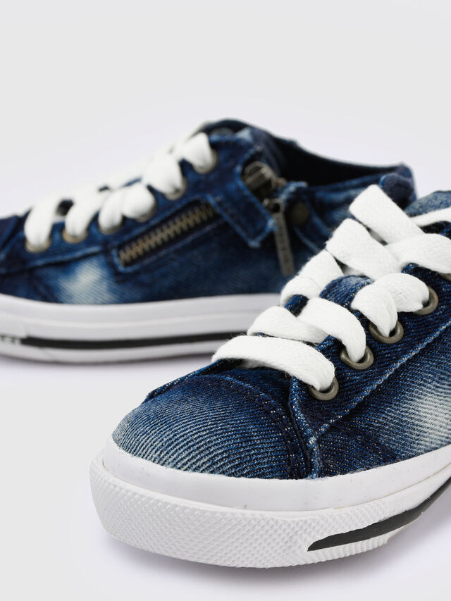Diesel - SN LOW 25 DENIM EXPO, Jean Bleu - Footwear - Image 4