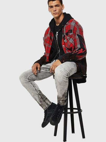 Diesel - Krooley JoggJeans 0091H, Gris Clair - Jeans - Image 4
