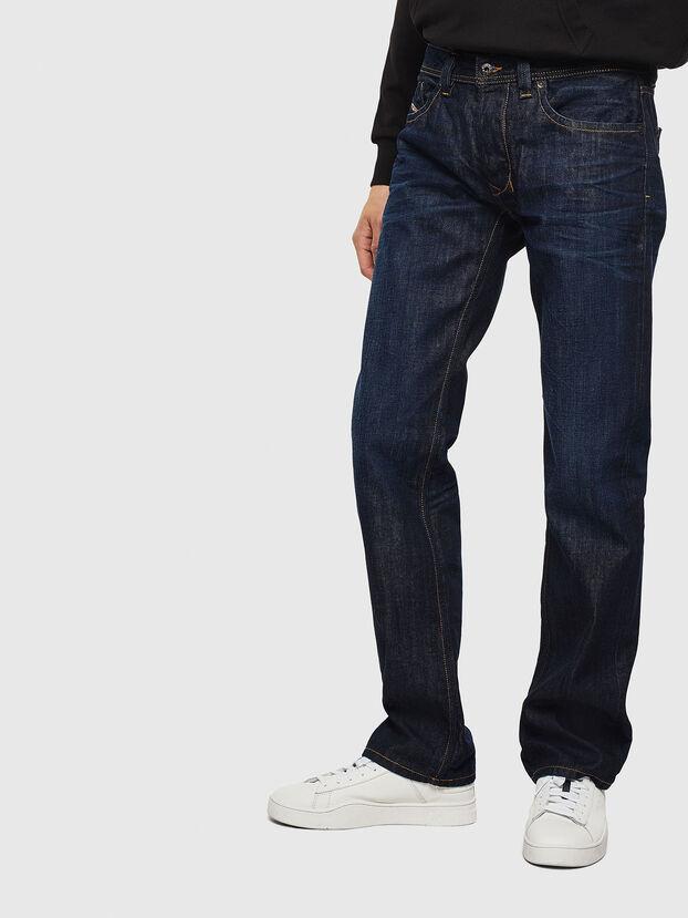 Larkee 0806W, Bleu Foncé - Jeans