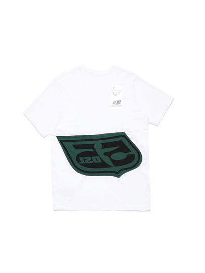 Diesel - D-SHIELD-GREEN, Blanc - T-Shirts - Image 2