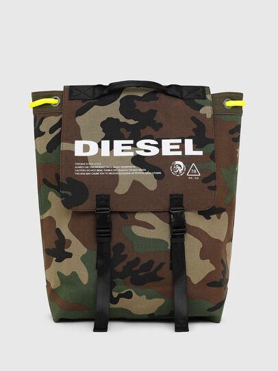 Diesel - VOLPAGO BACK, Vert Camouflage - Sacs à dos - Image 1