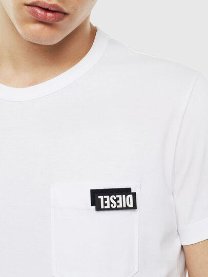 Diesel - T-WORKY-SLITS, Blanc - T-Shirts - Image 3