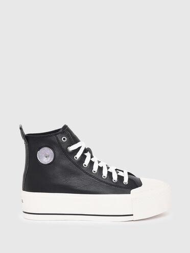 Sneakers montantes avec semelle à plateforme