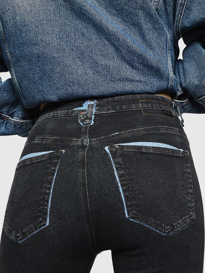 Diesel - Slandy High 0094B, Bleu Foncé - Jeans - Image 5