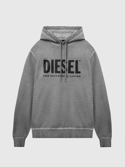 Diesel - S-GIR-HOOD-DIVISION-, Gris - Pull Cotton - Image 1