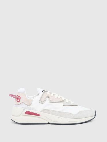 Sneakers en nylon, en cuir et en daim