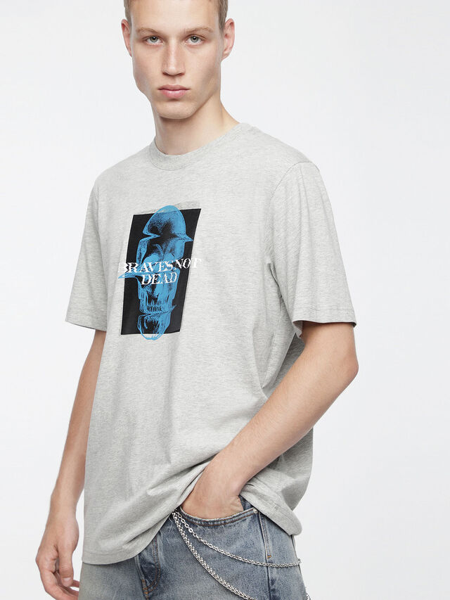 Diesel - T-JUST-XV, Gris - T-Shirts - Image 1