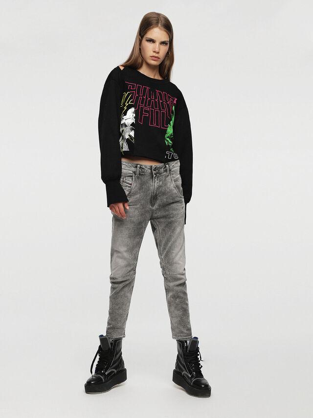 Diesel - Fayza JoggJeans 0855B, Gris Clair - Jeans - Image 4