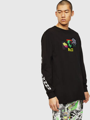 T-GLYNIS-J1, Noir - T-Shirts