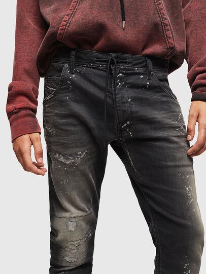 Diesel - Krooley JoggJeans 084AE, Noir/Gris foncé - Jeans - Image 3
