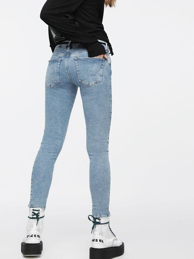 Diesel - Slandy Low 085AC, Bleu Clair - Jeans - Image 2