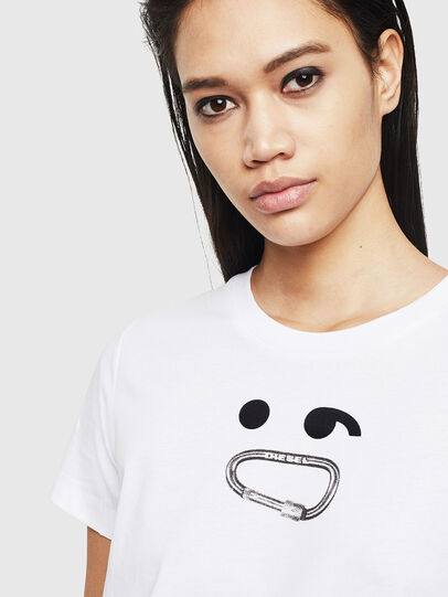 Diesel - T-SILY-S8, Blanc - T-Shirts - Image 3