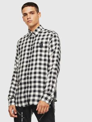 S-VEN-CHECK, Noir/Blanc - Chemises