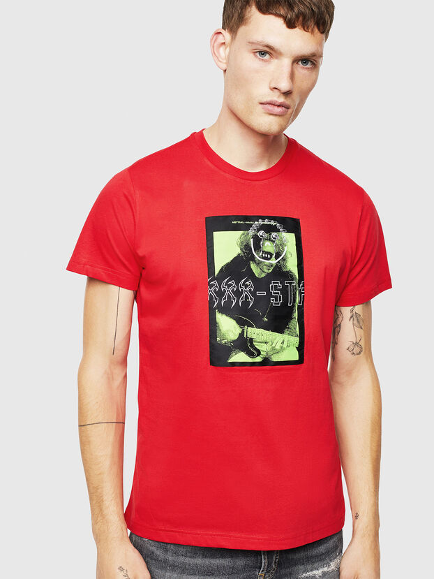 T-DIEGO-J1, Rouge - T-Shirts