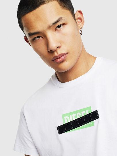 Diesel - T-DIEGO-S7, Blanc/Vert - T-Shirts - Image 3