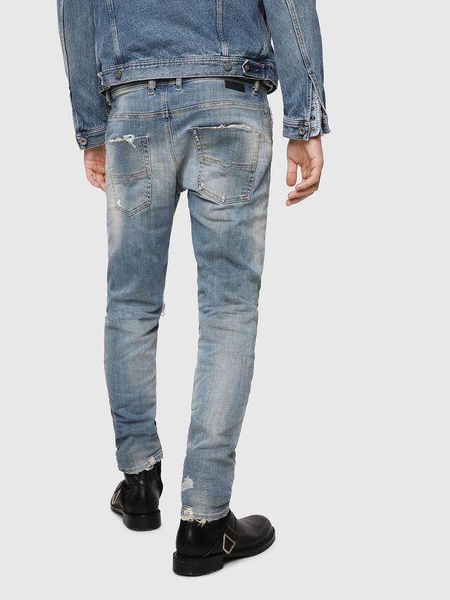 Diesel - Krooley JoggJeans 087AE, Bleu Clair - Jeans - Image 2
