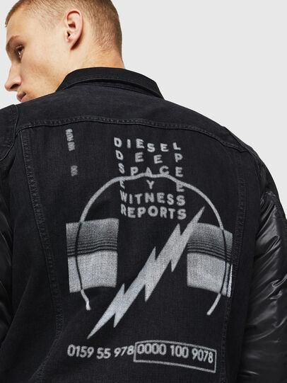 Diesel - D-BLIT, Noir/Gris foncé - Vestes en denim - Image 5