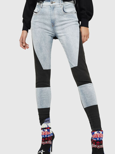 Diesel - Slandy High 0890M, Bleu Clair - Jeans - Image 1