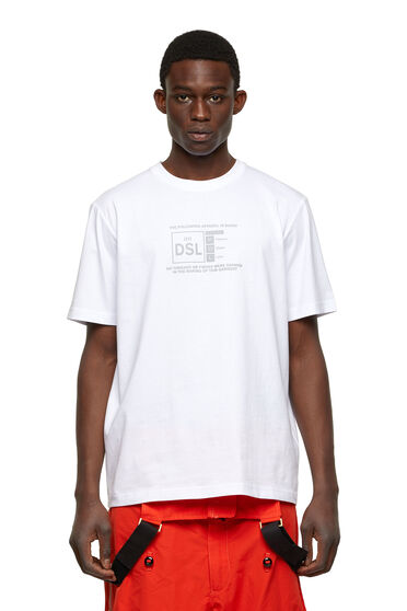 T-shirt avec logo imprimé réfléchissant