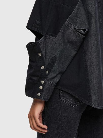 Diesel - DE-RINGLE, Noir - Chemises en Denim - Image 4