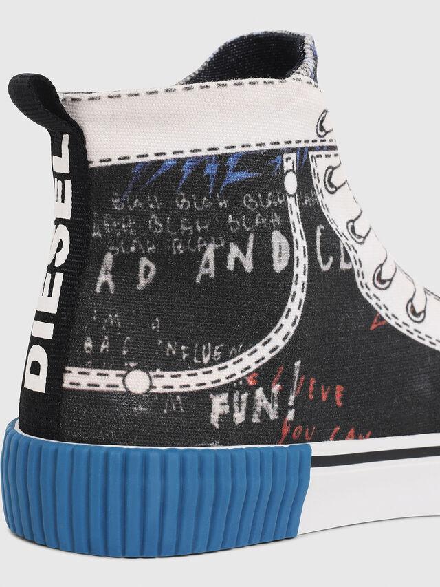 Diesel - SN MID 08 GRAPHIC CH, Noir/Blanc - Footwear - Image 4