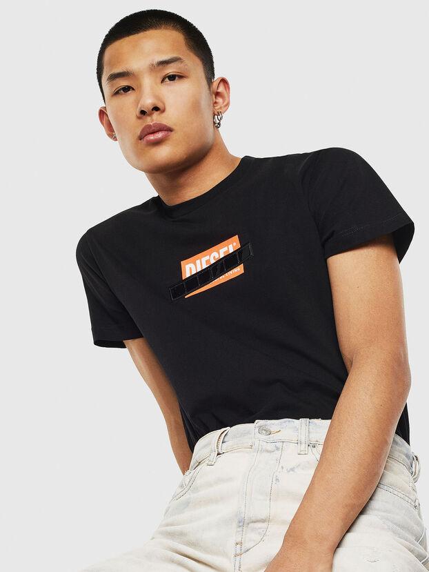T-DIEGO-S7, Noir/Orange - T-Shirts