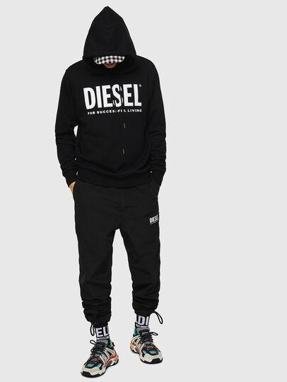 Diesel - S-GIR-HOOD-DIVISION-, Noir - Pull Cotton - Image 4