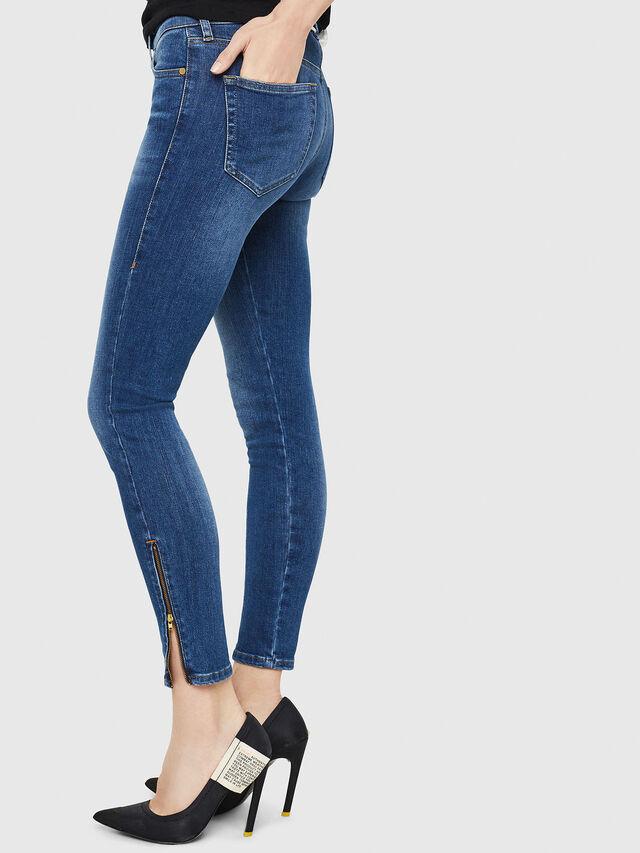 Diesel - Slandy Zip 088AU, Bleu moyen - Jeans - Image 3