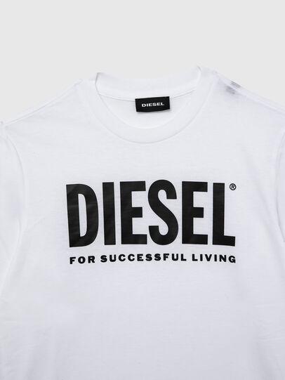 Diesel - TJUSTLOGO ML, Blanc - T-shirts et Hauts - Image 3