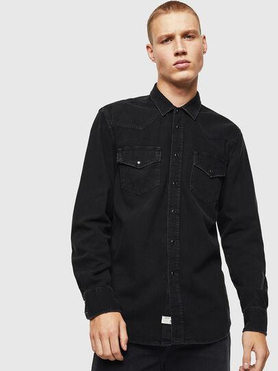 Diesel - D-EAST-P, Noir - Chemises en Denim - Image 1