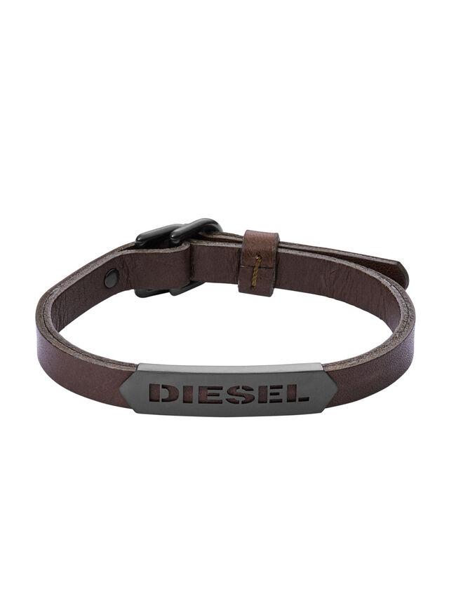 Diesel - BRACELET DX1001, Marron - Bracelets - Image 1