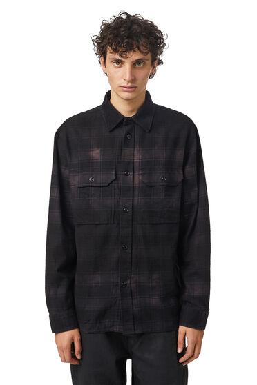 Chemise en flanelle à carreaux effet traité