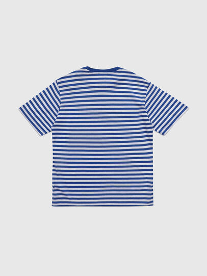 Diesel - TVIKTOR OVER, Bleu/Blanc - T-shirts et Hauts - Image 2