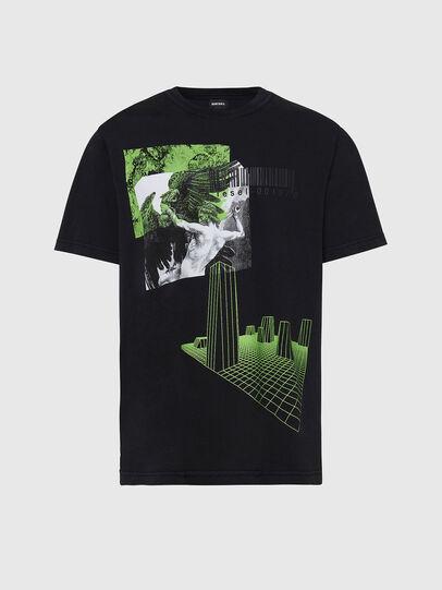 Diesel - T-JUBIND-SLITS, Noir - T-Shirts - Image 1
