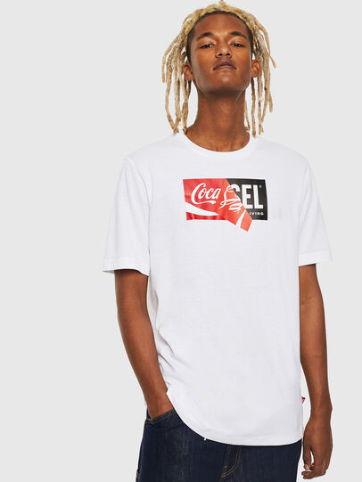 Diesel - CC-T-JUST-COLA, Blanc - T-Shirts - Image 1