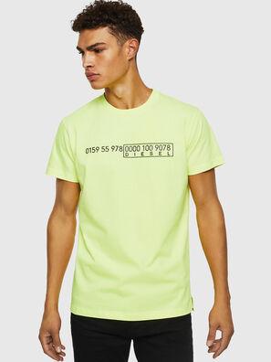 T-DIEGO-SLITS-J6, Jaune Fluo - T-Shirts